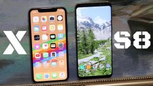 iPhone X vs Galaxy s8